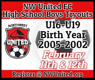 NW United FC Soccer High School Boys Tryouts
